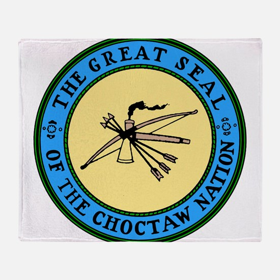 3-sealchoctaw1.png Throw Blanket