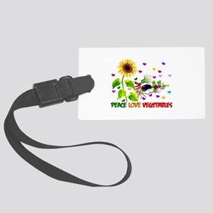 Peace Love Vegetables Large Luggage Tag