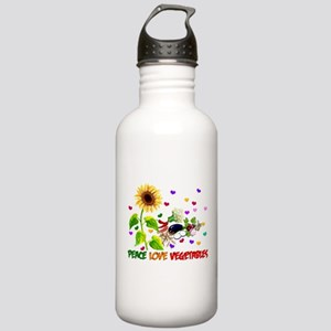 Peace Love Vegetables Stainless Water Bottle 1.0L