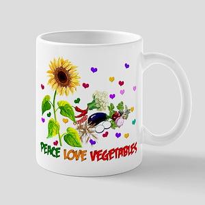 Peace Love Vegetables Mug