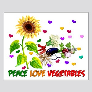 Peace Love Vegetables Small Poster