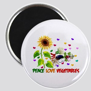 Peace Love Vegetables Magnet
