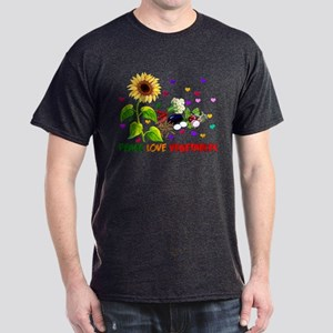 Peace Love Vegetables Dark T-Shirt