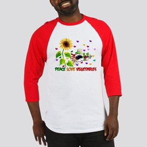 Peace Love Vegetables Baseball Jersey