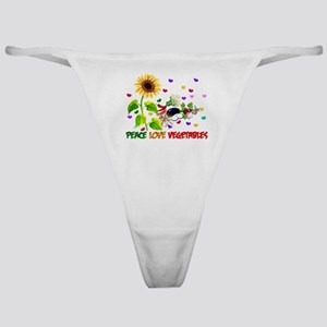 Peace Love Vegetables Classic Thong