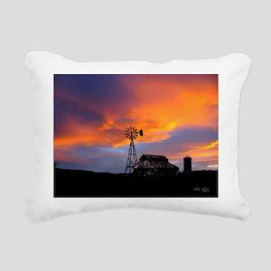 Sunset on the Farm Rectangular Canvas Pillow