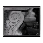 Garden Bench - Digital Photography Throw Blanket