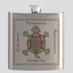 Turtle animal spirit Flask