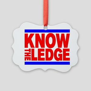 KNOW THE LEDGE Picture Ornament