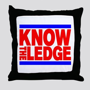 KNOW THE LEDGE Throw Pillow