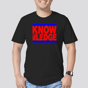 KNOW THE LEDGE Men's Fitted T-Shirt (dark)