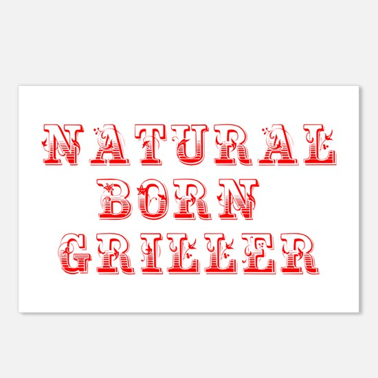 natural-born-griller-max-red Postcards (Package of