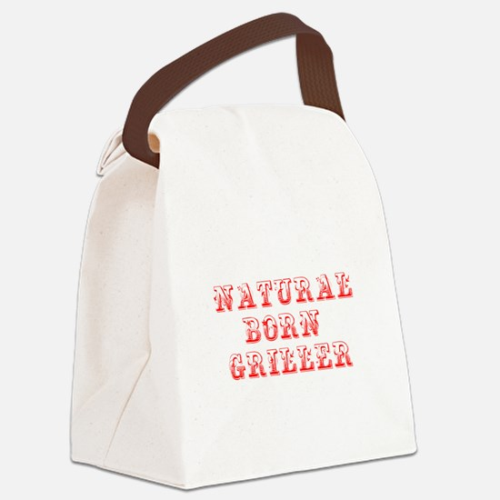 natural-born-griller-max-red Canvas Lunch Bag