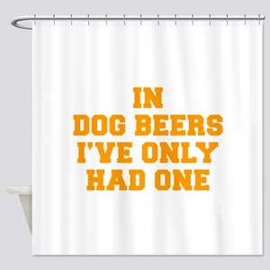 in-dog-beers-FRESH-ORANGE Shower Curtain
