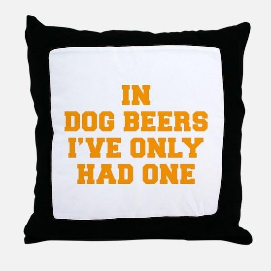 in-dog-beers-FRESH-ORANGE Throw Pillow