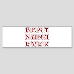 best-nana-ever-kon-brown Bumper Sticker
