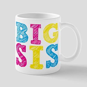 Multi-Colored Big Sis Small Mug