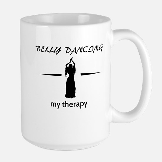 Belly Dancing my therapy designs Large Mug