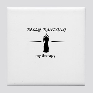 Belly Dancing my therapy designs Tile Coaster