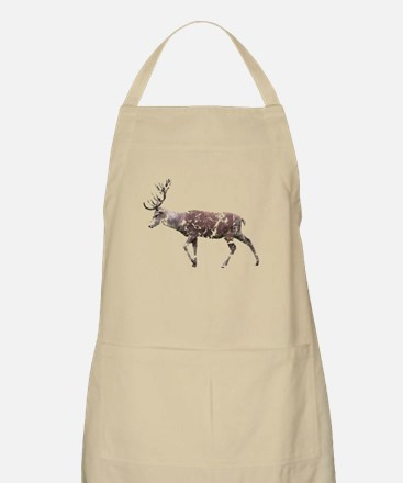 Grungy Style Deer Stag. Apron