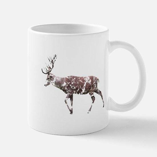 Grungy Style Deer Stag. Mug
