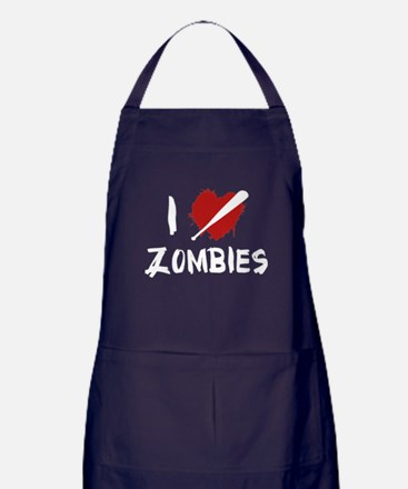 I Love Killing Zombies Apron (dark)