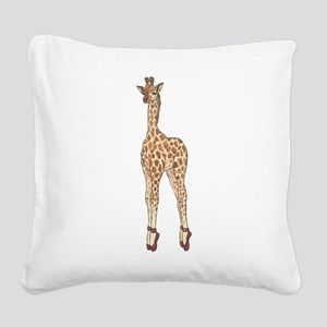 Stay On Your Toes! Square Canvas Pillow