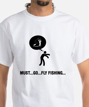 Fly Fishing White T-Shirt