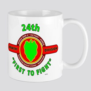 """24th Infantry Division """"First to Fight"""" Mug"""