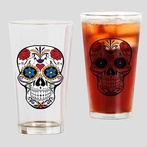Sugar Skull II Drinking Glass