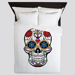 Sugar Skull II Queen Duvet