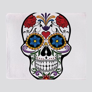 Sugar Skull II Throw Blanket