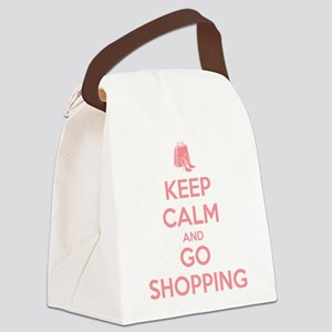 Keep Calm and Go Shopping Canvas Lunch Bag