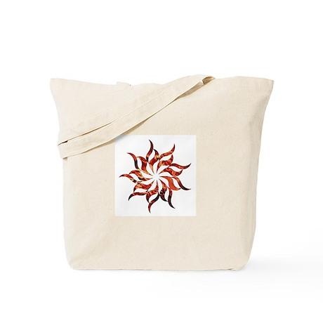 Mandala Flame Tote Bag