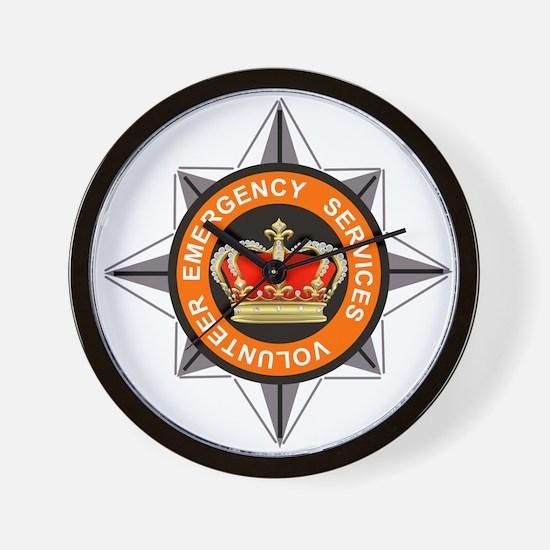 Emergency Service Volunteers Wall Clock
