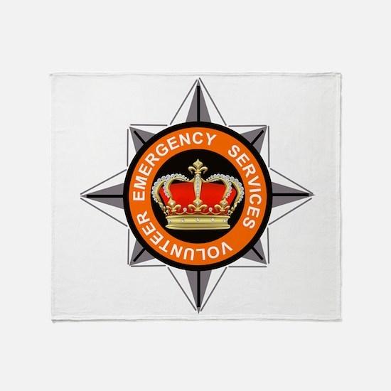 Emergency Service Volunteers Throw Blanket