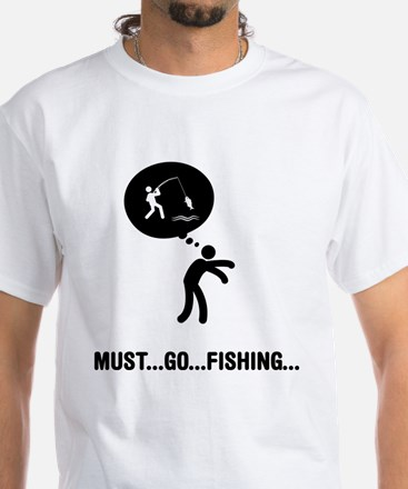 Fishing White T-Shirt
