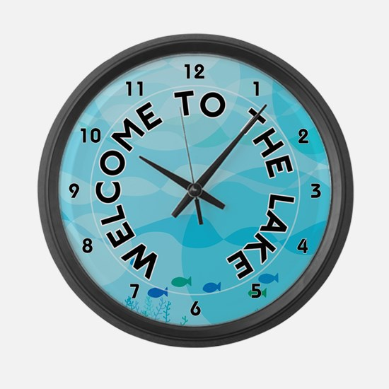 Welcome to The Lake Large Wall Clock