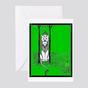 Cowardly Lion 3 Greeting Cards (Pk of 10)