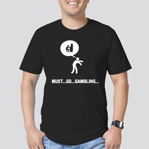 Gambling Men's Fitted T-Shirt (dark)