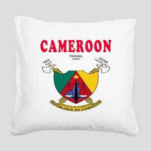 Cameroon Coat Of Arms Designs Square Canvas Pillow