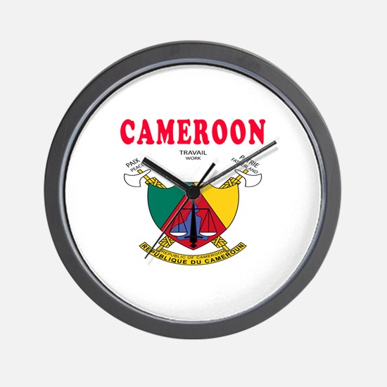 Cameroon Coat Of Arms Designs Wall Clock