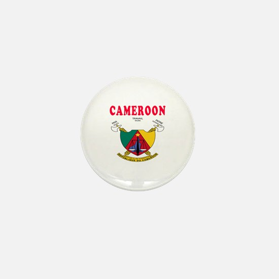 Cameroon Coat Of Arms Designs Mini Button