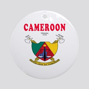 Cameroon Coat Of Arms Designs Ornament (Round)