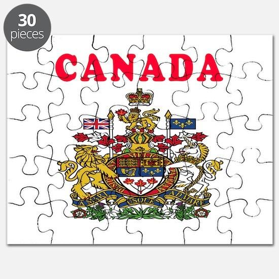 Canada Coat Of Arms Designs Puzzle