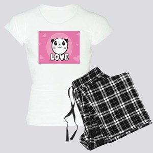 Fun Panda Love Hearts Pajamas