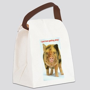 I just love getting dirty! Canvas Lunch Bag