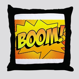 BOOM Comic Sound Effects Throw Pillow