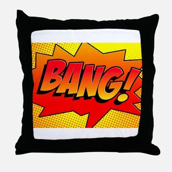 BANG Comic Sound Effect Throw Pillow