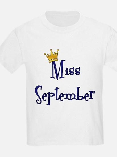 Miss September Kids T-Shirt